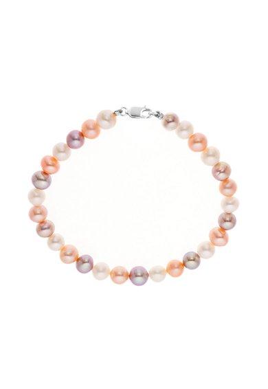 Bratara corai cu violet din perle de la Perles Addict
